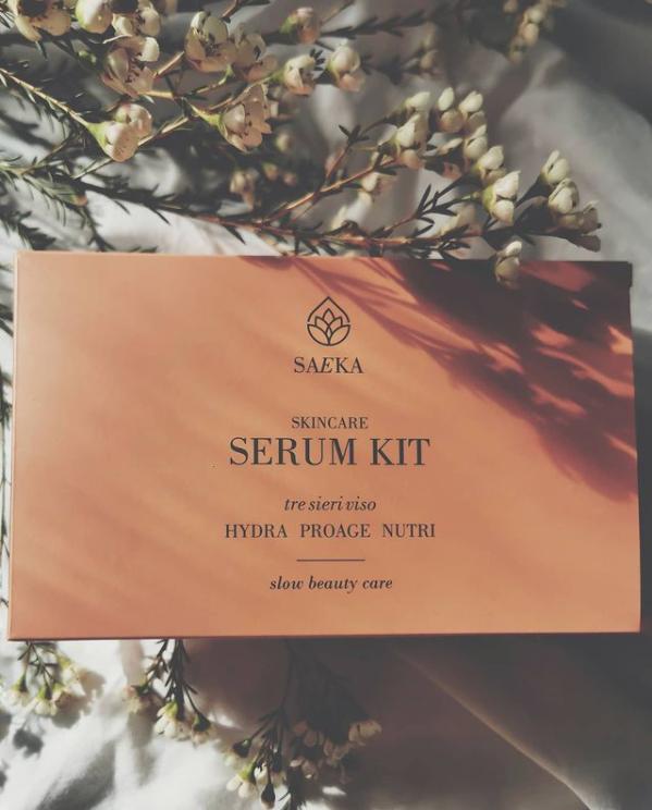 Saeka serum kit: 3 sieri vino con i prodotti dell'Amiata e della Val d'Orca